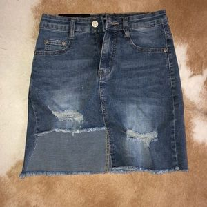 Ripped Jean Skirt from Nasty Gal